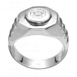 0,08 ct Diamant Herrenring
