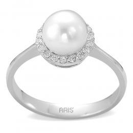 0,13 ct Diamant Perlen Ring