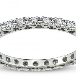 0.53 ct Diamant Memoire Ring