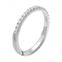 0.25 ct Diamant Memoire Ring