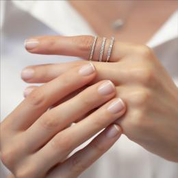 Memoire Brillant Ring 585er Weißgold