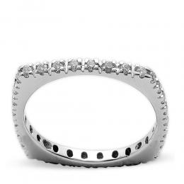 0,33 ct Diamant Memoire Ring