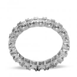 0,18 ct Diamant Memoire Ring