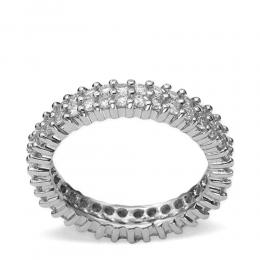 1,20 ct Diamant Memoire Ring