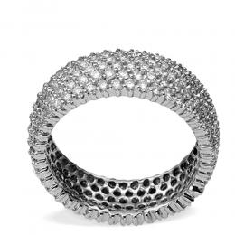 2,95 ct Diamant Memoire Ring