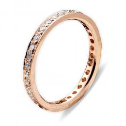 0,38 ct  Diamant Memoire Ring