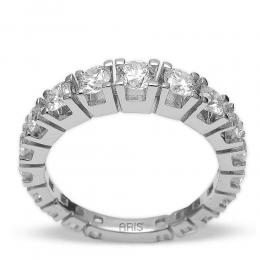 2,96 ct Diamant Memoire Ring