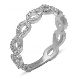 0,51 ct  Diamant Ewigkeit Memoire Ring
