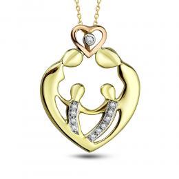 0,06 ct Diamant Familien  Kette
