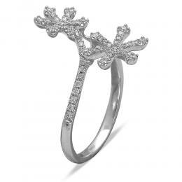 0,28 ct Diamant Schneeflocken Ring
