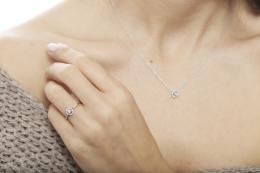 0,12 ct Diamant Miracle Solitärring