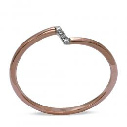 Rosegold Diamant Ring