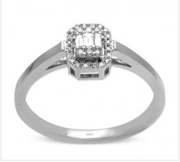 0,12 Ct. Baget Diamant Ring