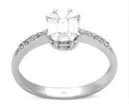0,47 ct Diamant Baguette Ring