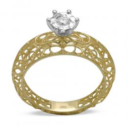 Miracle Diamant Ring (0.15 Ct Ansicht)