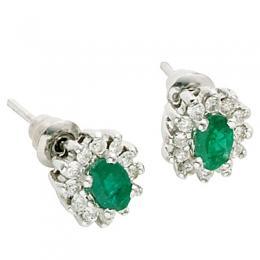 0,60 ct  Smaragd Ohrring