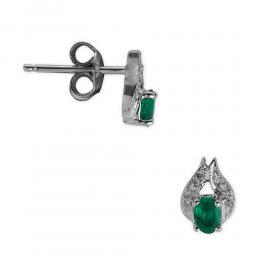 0,38 ct  Smaragd Ohrring
