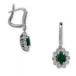 0,82 ct  Smaragd Ohrring