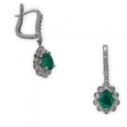 1,35 ct Smaragd Diamant Ohrringe