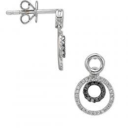 0,22 ct Schwarz Weiß Diamant Ohrring