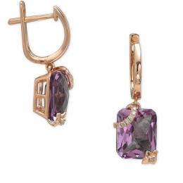 5,29 ct  Amethyst Ohrring