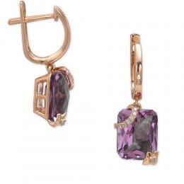 5,29 ct Amethyst Diamant Ohrringe
