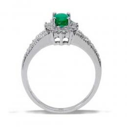 0,45 ct Smaragd Diamant Ring