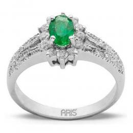 0,45 ct  Smaragd Ring