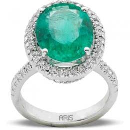 6,58 ct  Smaragd Ring