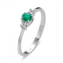 0,20 ct Smaragd Diamant Ring