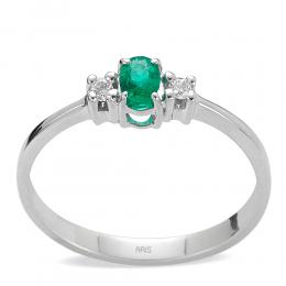 0,20 ct Smaragd Diamant Ring