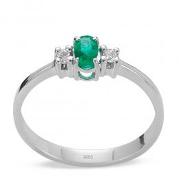 0,16 ct Smaragd Diamant Ring