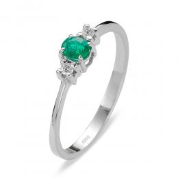 0,16 ct Smaragd Diamant Ring