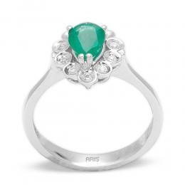 0,72 ct Smagrad Diamant Ring