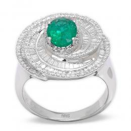 1,24 ct  Smaragd Ring