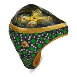 31,60 ct Farbedelstein Diamant Icona Ring