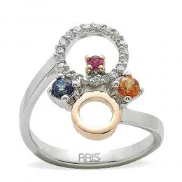 0,40 ct Farbedelstein Diamant Ring