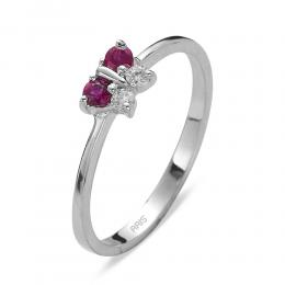 0,14 ct Rubin Diamant Ring