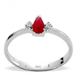 0,19 ct Rubin Diamant Ring