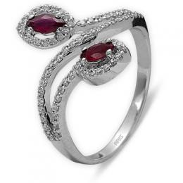 0,30 ct Rubin Diamant Ring
