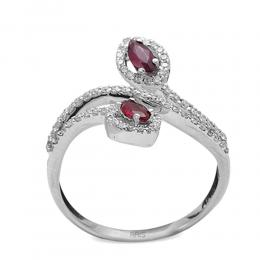 0,30 ct Rubin Diamant Ring