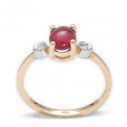 1,68 ct Rubin Diamant Ring
