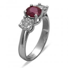 1,20 ct Rubin Diamant Ring