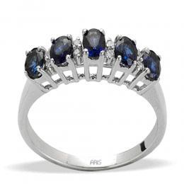 0,98 ct Saphir Diamant Ring