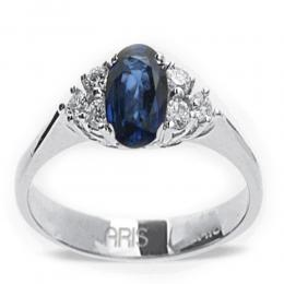 0,47 ct Saphir Diamant Ring