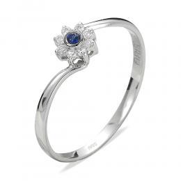 0,04 ct Saphir Diamant Ring