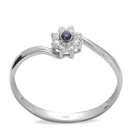 0,04 ct Saphir Diamant Ring