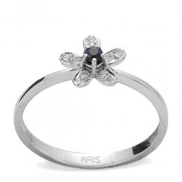 0,11 ct Saphir Diamant Ring