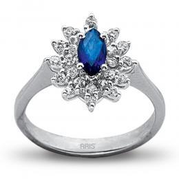 0,61 ct  Saphir Ring