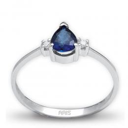 0,66 ct Saphir Diamant Ring